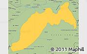 Savanna Style Simple Map of Ituzaingo