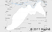 Silver Style Simple Map of Ituzaingo