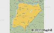 Savanna Style Map of Corrientes