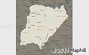 Shaded Relief Map of Corrientes, darken