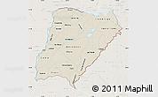 Shaded Relief Map of Corrientes, lighten