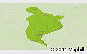 Physical Panoramic Map of Monte Caseros, lighten