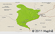 Physical Panoramic Map of Monte Caseros, shaded relief outside