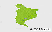 Physical Panoramic Map of Monte Caseros, single color outside