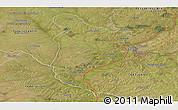 Satellite Panoramic Map of Monte Caseros