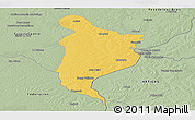 Savanna Style Panoramic Map of Monte Caseros