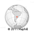 Outline Map of Corrientes