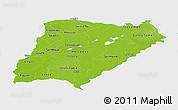 Physical Panoramic Map of Corrientes, single color outside