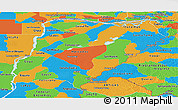 Political Panoramic Map of Corrientes