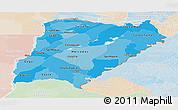 Political Shades Panoramic Map of Corrientes, lighten
