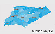 Political Shades Panoramic Map of Corrientes, single color outside