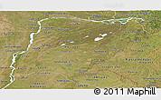 Satellite Panoramic Map of Corrientes