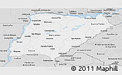 Silver Style Panoramic Map of Corrientes