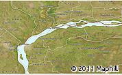 Satellite 3D Map of San Cosme