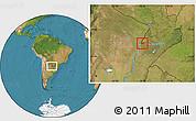 Satellite Location Map of San Cosme