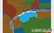 Political Map of San Cosme, darken