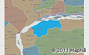Political Map of San Cosme, semi-desaturated