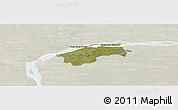 Satellite Panoramic Map of San Cosme, lighten