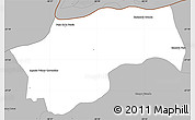 Gray Simple Map of San Cosme
