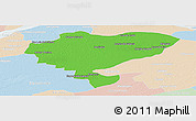 Political Panoramic Map of San Luis del Palmar, lighten