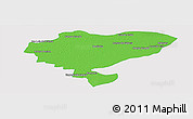 Political Panoramic Map of San Luis del Palmar, single color outside