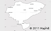 Silver Style Simple Map of San Luis del Palmar, cropped outside
