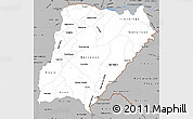 Gray Simple Map of Corrientes
