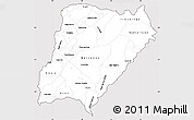 Silver Style Simple Map of Corrientes, cropped outside