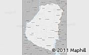 Gray 3D Map of Entre Rios