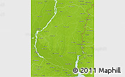 Physical 3D Map of Entre Rios