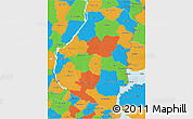 Political 3D Map of Entre Rios