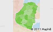 Political Shades 3D Map of Entre Rios, lighten
