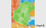Political Shades 3D Map of Entre Rios