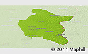 Physical Panoramic Map of Colon, lighten