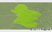 Physical Panoramic Map of Concordia, semi-desaturated