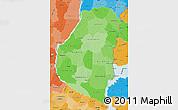 Political Shades Map of Entre Rios