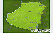 Physical Panoramic Map of Entre Rios, darken
