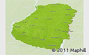 Physical Panoramic Map of Entre Rios, lighten