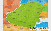 Physical Panoramic Map of Entre Rios, political shades outside