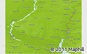 Physical Panoramic Map of Entre Rios