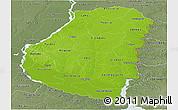 Physical Panoramic Map of Entre Rios, semi-desaturated