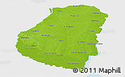 Physical Panoramic Map of Entre Rios, single color outside