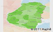 Political Shades Panoramic Map of Entre Rios, lighten