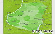Political Shades Panoramic Map of Entre Rios, physical outside