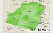 Political Shades Panoramic Map of Entre Rios, shaded relief outside