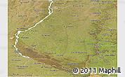Satellite Panoramic Map of Entre Rios