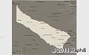 Shaded Relief 3D Map of Formosa, darken