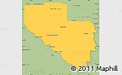 Savanna Style Simple Map of Laishi