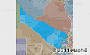 Political Shades Map of Formosa, semi-desaturated