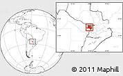 Blank Location Map of Pilcomayo